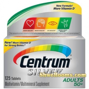 Quality is Important for Your Family Health ~ Doctors Recommend Centrum Silver Multivitamins (100+25 tablets - $40)