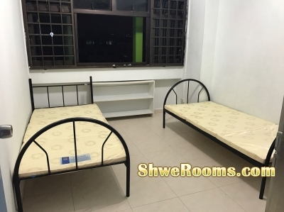 One Lady roommate in common room rent near lake side mrt
