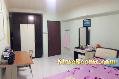 Master room available (Couple/both males or females), * allow to stay max 3persons*