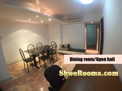 Common Room At Toa Payoh  For couple/or 1 lady(short/Long term)