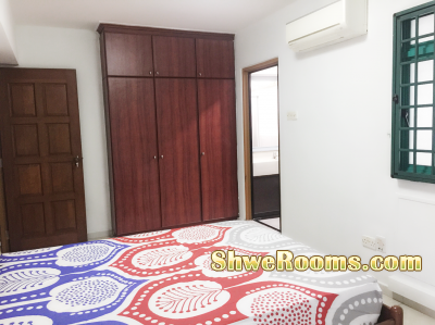⭐️Master bedroom⭐️(S$900+ PUB)*Negotiable* (1-2mins walk to MRT)-Couple/both males or females),