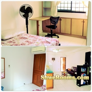 Long term/short term to rent for common room with air-con at Choa Chu Kang