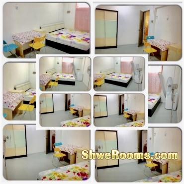 $700 or $600 (1st January Available) 2+1 Big common room  (own bath room with attached toilet ) for Rent at Ang Mo Kio Avenue 4 , Blk 114