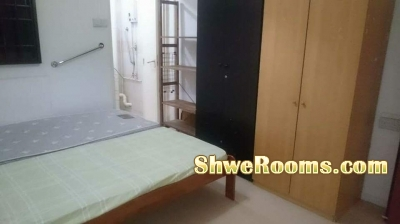 Short term for one female to share master room at  Bedok (no need deposit)