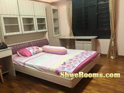 Master bedroom and common room nearby Pioneer MRT available in FEB 2018