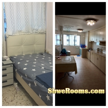 Nearest BEDOK MRT/BUS Interchange Looking For One Male Roommate Common Room With Air-con (Short Term/Long Term)