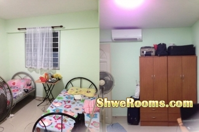 Common room for one male near Yishun MRT with aircon (380$)