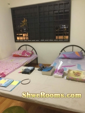 Near Boonlay Mrt, one lady to share Common room for rent
