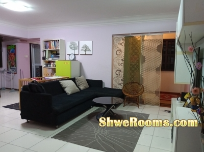 SGD 425 - One lady to share BIG MASTER ROOM (Admiralty) - beside MRT