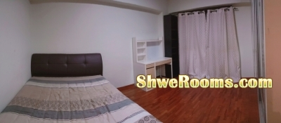 425 SGD-One Lady to share in BIG master-room (beside Admiralty MRT)